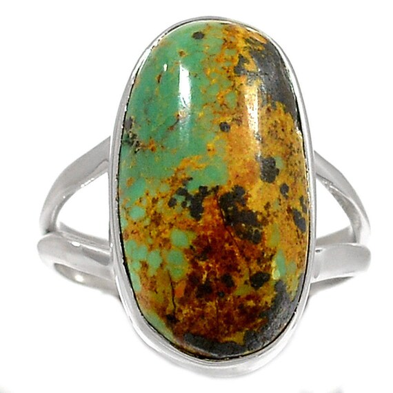 Royston Mine Turquoise 925 Sterling Silver Ring Jewelry s.7