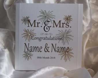 Personalised Mr & Mrs Wedding Card... With Names and Date of Wedding.