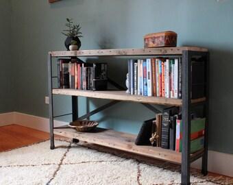 The Bucktown Bookcase // Reclaimed wood bookshelf