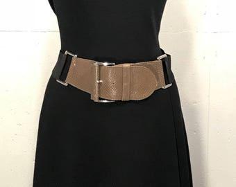 80s Express Faux Snakeskin Belt, Retro Fauxskin Leather Belt, Oversized 80s Belt