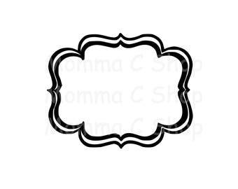 Double Border One Color Instant Digital Download File Cutting