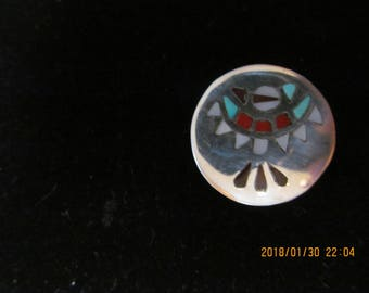 vintage, sterling silver, thunderbird, Native American,
