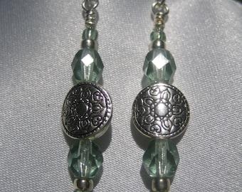 Prairie Green Luster Earrings