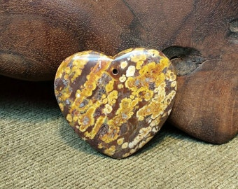 Sale #EarthDay ~ Beautiful Earth Shades in Leopard Skin Jasper Heart