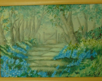 Misty Woods - Painting in Acrylic