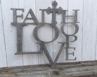 Faith Hope Love - Sign
