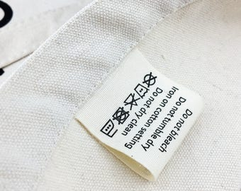 300 organic cotton label, organic cotton clothing label, cotton clothing label, cotton printed label, recycled clothing labels