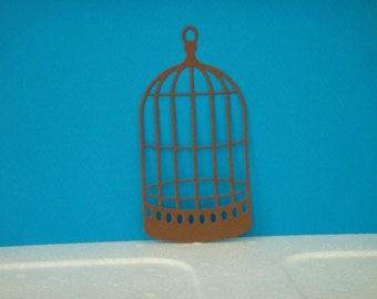 Cut Brown birdcage for scrapbooking and card