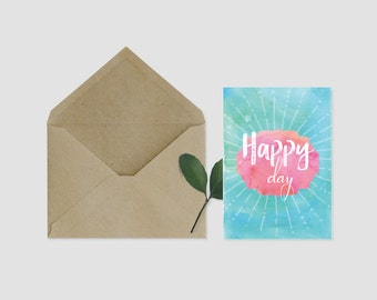 Map Happy Day - light and positive
