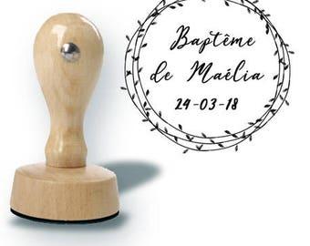 Custom baptism or wedding stamp