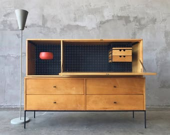 Paul McCobb Drop Lid Desk and 4 Drawer Chest.