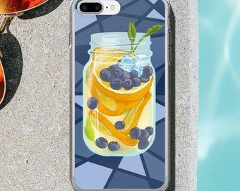 Summer Vibes Blueberry Orange Lemonade Mixed Drink iPhone Case