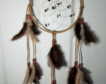 Tiger's Eye Dream catcher,  Brown Dreamcatcher
