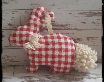 Handmade Easter Bunny, handmade Bunny, Cotton Easter Bunny, Easter Decoration, Easter Ornament