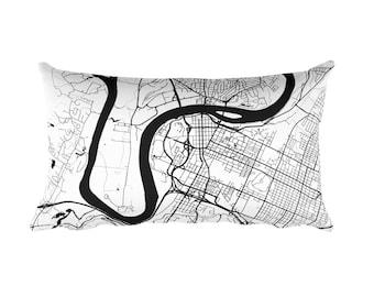 Chattanooga Pillow, Chattanooga Decor, Chattanooga Cushion, Chattanooga Throw Pillow, Chattanooga Gift, Chattanooga TN Map, Chattanooga Art