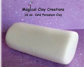 Cold Porcelain Clay (1) 16oz. White