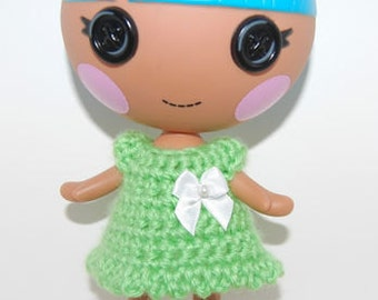 "PDF Pattern - Crochet Doll Dress Pattern for 7"" Lalaloopsy Littles - Instant Download"