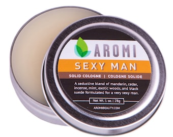 Sexy Man Solid cologne.  Men's Cologne.  Manly.  Fragrance. Men's Gift.  Unique Men's Gift.  Manly Gift. Fathers day gift. men's fragrance.