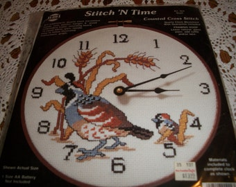 Stitch 'N Time Counted Cross Stitch Clock Kit