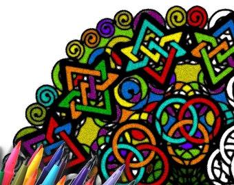 Mandala Coloring Page Printable Download - Geometric