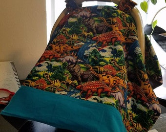 Dinosaur Car Seat Canopy
