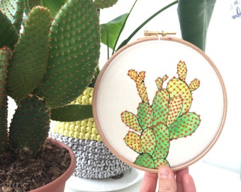Cactus Embroidery Hoop