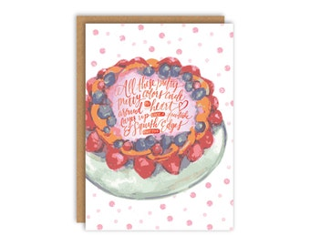 Fruitcake Birthday Card