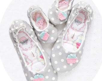 Womens Slippers, Womens house shoes, Slippers, Ballet Flats, Family look, gift for her, Ballet Slippers, Ballerina Slippers, booties,