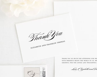 Timeless Elegance Thank You Cards