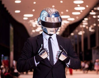 Sale!! Complete Daft Punk Thomas Look Helmet + Gloves *FAN-MADE REPLICA*