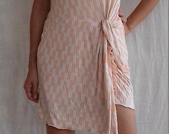 Tube short dress/skirt lycra japan allows print pink