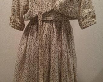Cream/bubbles Jonathan Logan vintage 1950's dress vlv