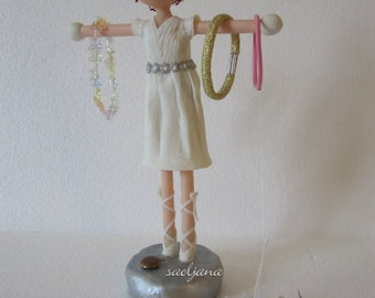 Little jewelry-holder ballerina! Cold Porcelain Trinket bowl