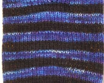 "Duchess of Dyepots Rani Stripe Sock Yarn ""Sorceress"""