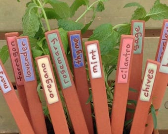 Herb Marker, Custom Herb Marker, Handmade, Herbs, Unique, Herb Stakes, Plant Markers, Garden Markers, Herb Garden Markers, Plant Markers