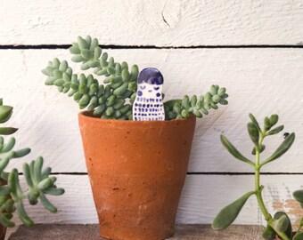 Ceramic Figure, Mooshpie Little Friend, Porcelain Sculpture, Ceramic Planter Ornament, Cake Topper, Ceramic People, Fine Art Ceramics,