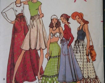 1970s Butterick 4089 Betsy Johnson Set of Skirts in 4 lengths pattern, size 16