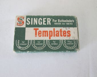 Singer Templets for Buttonholers 160506 and 160743