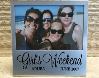 Girls Weekend Silver Picture Frame