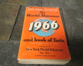 1966 The WORLD ALMANAC and Book of Facts * Published by New York World-Telegram