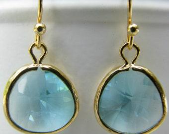 Aqua Earrings Aquamarine Earrings aquamarine jewelry dangle Earrings Pale Blue earrings Beach Wedding Bridesmaid Earrings March Birthstone
