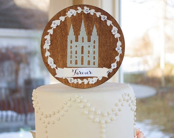 Cake Topper Salt Lake City LDS Temple