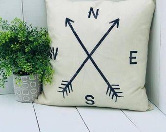 Farmhouse Pillow, throw Pillow, fixer Upper Style, Home Decor, Decorative Pillow, Longitude, Latitude, farmhouse pillows, pillow covers