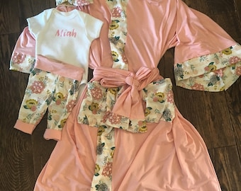 Mommy and me making robe set