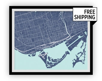 Toronto Map Print - Any Color You Like