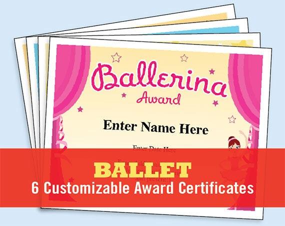 Ballet Certificate Pack Dancing Awards Dance Team