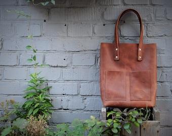 Distressed Leather Tote Bag, Camel Leather Tote, Leather Shoulder Bag, Leather Diaper Bag, Laptop Bag, Leather Bag