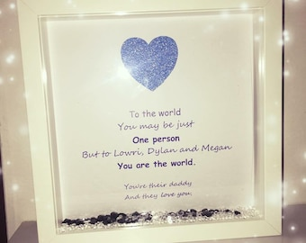 Fathers day gift, Gift for dad, gift for grandad, dad box frame, grandad box frame, personalised frame, personalised gift, gift for dad