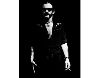 12 x 16 inch LEMMY KILMISTER / MOTORHEAD Original Hand-printed, Signed Photograph by World Renowned Rock 'n' Roll Photographer Ami Barwell