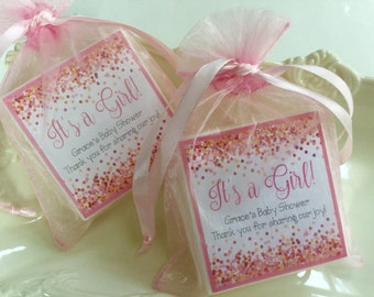 Baby Girl  Shower Favors, Party favors,  Bridal Shower, Birthday Party,  Soap favors,  set of 10